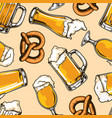 colorful brewing vintage seamless pattern vector image