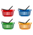 coloured shopping basket vector image