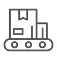 conveyor line icon production and factory vector image