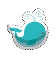 cute whale toy isolated icon vector image vector image