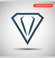 diamond icon in flat style vector image vector image