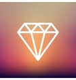 Diamond thin line icon