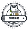 drinks menu restaurant isolated icon vector image vector image