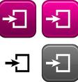 Entrance button vector image vector image