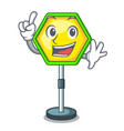 finger traffic sign isolated on the mascot vector image