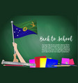 flag of christmas island on black chalkboard vector image