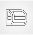 fridge icon sign symbol vector image vector image