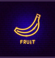 fruit neon label vector image