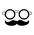 groucho marx glasses funny or joke item icon image vector image vector image