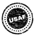 grunge textured usaf stamp seal vector image