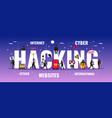 hacker typography banner vector image vector image