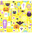 Halloween Trendy Color Seamless Pattern vector image