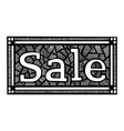 hand-painted inscription sale vector image vector image