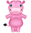 Happy hippo cartoon vector image