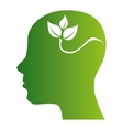 head plant green ecology icon vector image