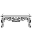 imperial baroque console table french luxury vector image vector image
