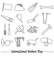 international worker day or labor day theme vector image vector image