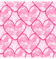 lace seamless pattern with ornamental hearts vector image