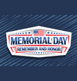 logo for memorial day vector image vector image