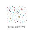 merry christmas flakes fall winter season postcard vector image vector image