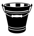 pail icon simple style vector image vector image