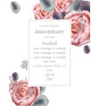 peony flowers card watercolor floral decor vector image vector image