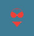 Red Bikini vector image vector image