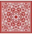 Red scarf with geometric design vector image