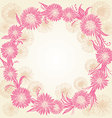 romantic graphic pink and beige flowers vector image vector image