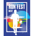 run feat best colorful poster template for sport vector image vector image