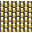 Seamless pattern orange beer mug on a brown vector image