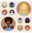 set female portraits vector image vector image