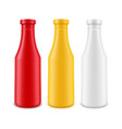 set of blank plastic white red yellow vector image vector image