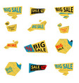 set of flat sale stickers vector image