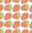 Sketch tasty strawberry in vintage style vector image vector image