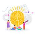 smart brain tree success knowledge vector image vector image