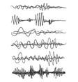 sound waves set audio player audio vector image vector image