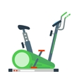 Stationary exercise bike sport gym machine health vector image vector image