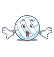 surprised volley ball character cartoon vector image vector image