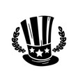 uncle sam hat american independence day retro vector image