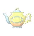 vintage tea pot icon cartoon style vector image