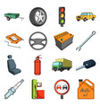 wheel wrench jack and other equipment car set vector image
