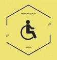 wheelchair handicap icon vector image vector image