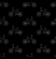 white bicycle seamless on black background vector image vector image