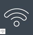 wi fi thin line icon vector image