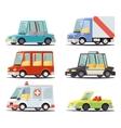 Transport Car Vehicle Icon Design Stylish Retro vector image