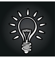 abstract lightbulb vector image vector image