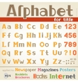 Alphabet for title vector image vector image
