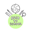 back to school banner with texture from colorful vector image