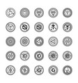 bitcoin and cryptocurrency icons pack vector image